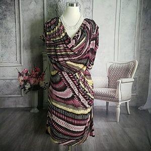 Alfani Women's Dress Black Pink Size 16 Polyester